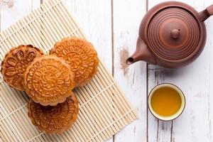 gâteau de lune et thé