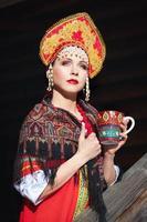 fille russe dans un kokoshnik