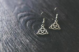 boucles d'oreilles celtiques en argent photo