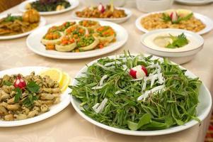 diverses assiettes libanaises