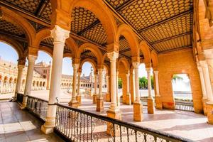 célèbre plaza de espana, sevilla, espagne