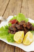 citron avec viande grillée