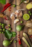 ingrédients alimentaires thaïlandais