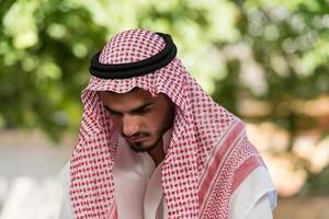 humble prière musulmane photo