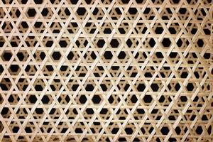 panier en osier mat texture thaï à la main traditionnel photo