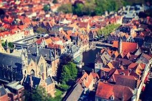 vue aérienne de bruges (brugge), belgique. photo