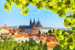 panorama de prague hrad et vitas cathédrale