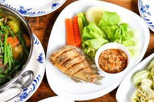 choix de plats thaïlandais sains