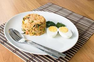 khow pat tom yum koong cuisine thaïlandaise photo