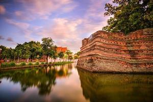 mur de la vieille ville de chiang mai photo