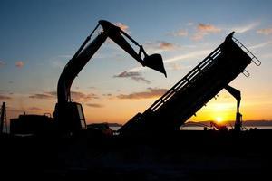 machine d'excavatrice photo