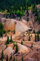 Silverton durango gold mine à flanc de coteau de l'histoire toxique du colorado photo
