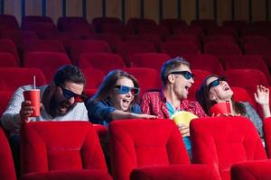 les émotions des gens au cinéma photo