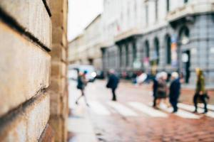 scène urbaine floue ville et les gens photo