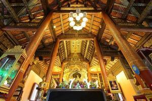 Chiang Mai, Thaïlande. temple wat phra qui sri chom thong photo