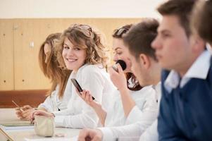écolière se maquiller photo
