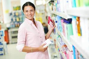 femme, achats, supermarché photo