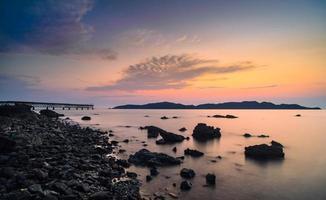 coucher de soleil paysage marin, chapeau sor, sattahip