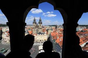 Prague, place de la vieille ville photo