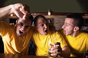 fans de sport dans un pub photo