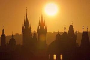 Prague - flèches de la vieille ville