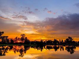 crépuscule thaïlande photo