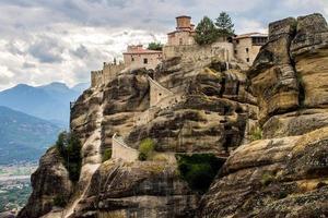monastère orthodoxe saint à météores photo