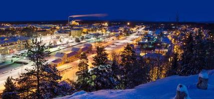 vue de la petite ville suédoise photo