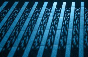 fond de silhouette de balustre, élément architectural