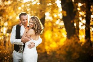 beau couple posant photo