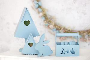 décoration élégante en bleu