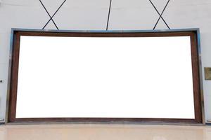 grand modèle de panneau d'affichage rectangulaire