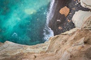 vue à vol d'oiseau sur la mer photo