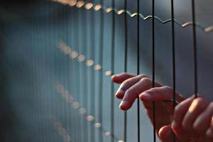 doigts poignée clôture photo