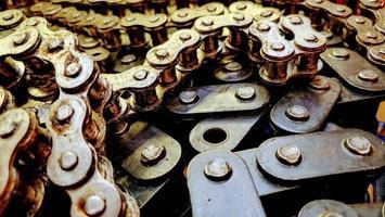 chaînes mécaniques brillantes photo
