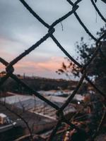 gros plan de clôture métallique photo