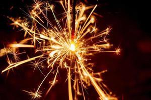 fond de sparkler. Noël et nouvel an fond de vacances sparkler.