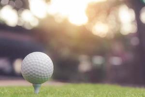balle de golf sur l'herbe verte photo
