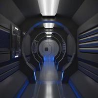 Vaisseau spatial 3D avec intérieur noir