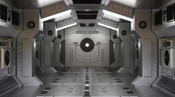 Rendu 3D d'un tunnel de vaisseau spatial