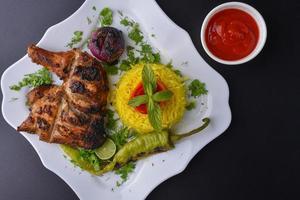 repas de poulet grillé
