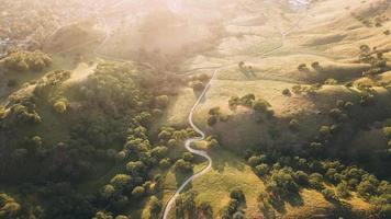 vue aérienne sur champ photo