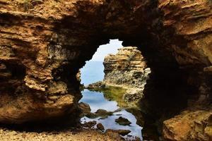 formation de roche brune photo