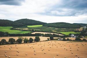 paysage de campagne colorée photo