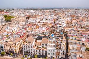 Vue du paysage urbain de Séville d'en haut