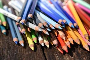 gros plan, ensemble, de, crayons de couleur
