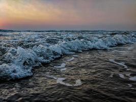 gros plan des vagues photo