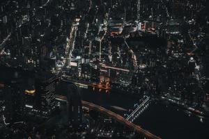 photo aérienne des bâtiments de la ville