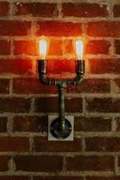 lampe de tuyau en acier photo