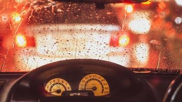 gros plan, de, pluie, sur, pare-brise photo